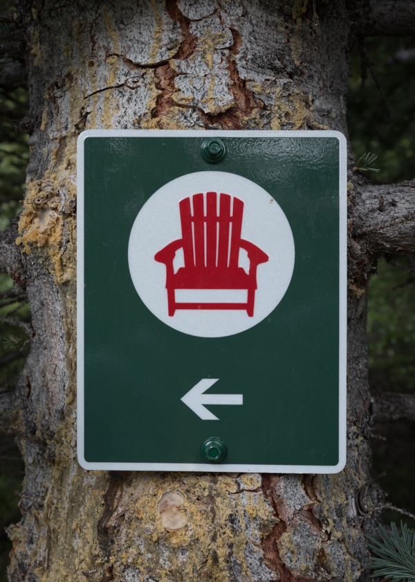 Red Chair Directional Sign