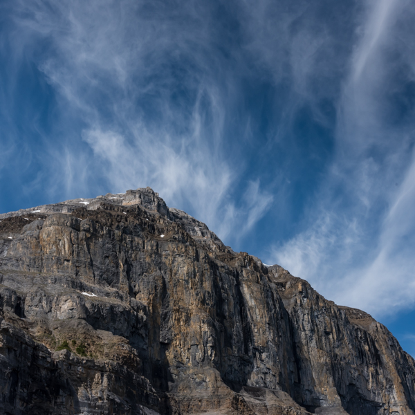 Rock Face and Sky at Stanley Glacier
