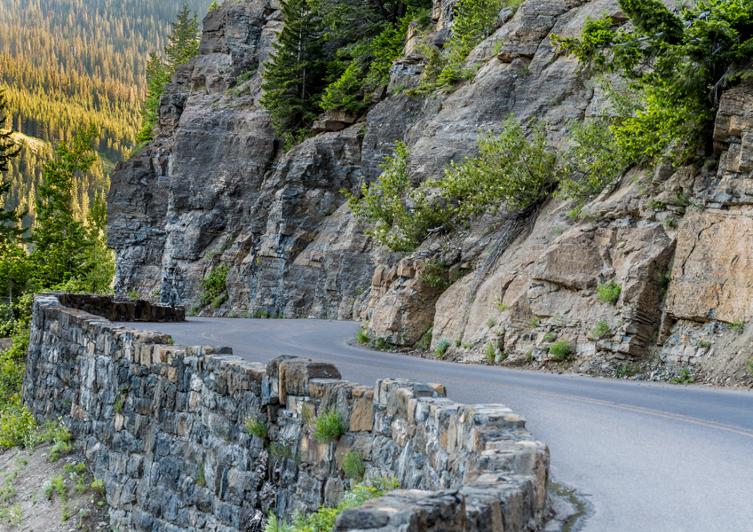 The fact that Going to the Sun Road is able to be maintained is a remarkable feat. It takes months to clear the snow from it each year. Check out the curves on it at the higher elevations near Logan Pass!