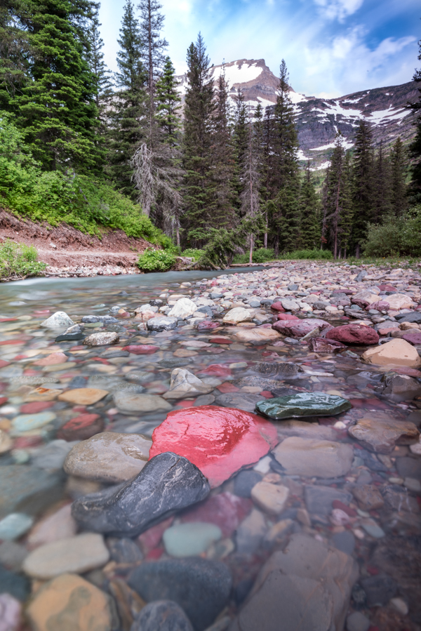 Rocks in Cataract Creek on the Way to Grinnell Lake
