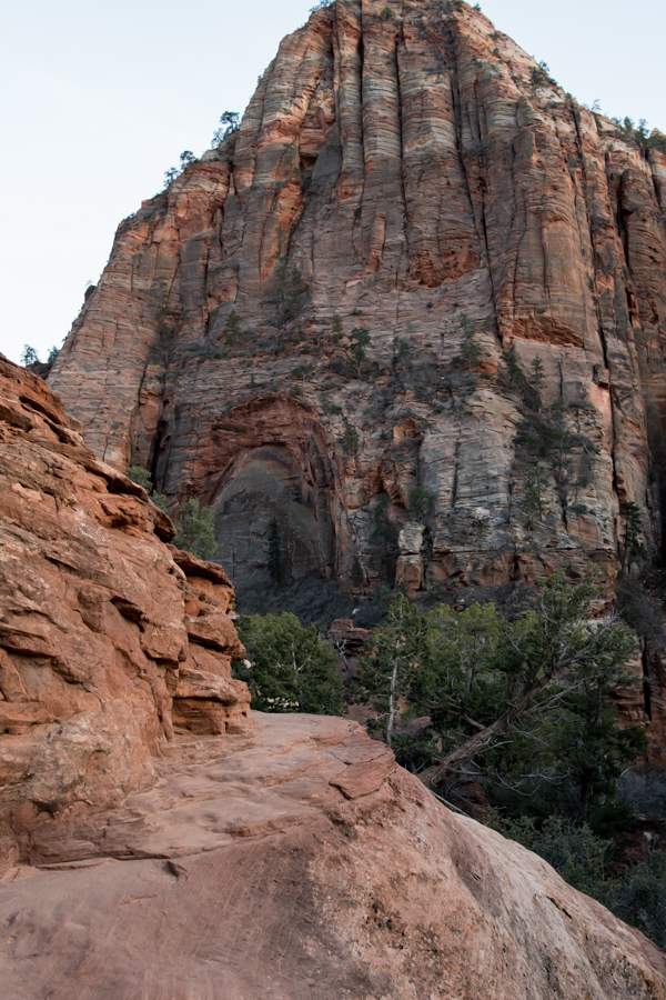 Narrow Ledge of Trail to Canyon Overlook