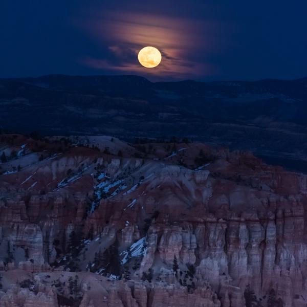 Full Moon Rising Over Bryce