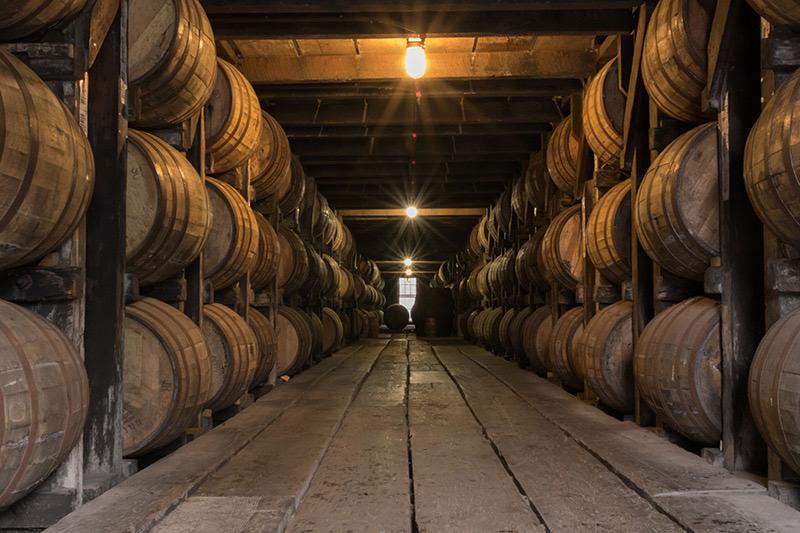 Starburst on Lights in Bourbon Aging Warehouse (1).jpg