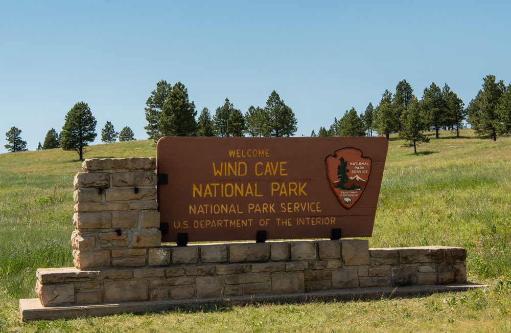 Welcome to Wind Cave National Park Sign