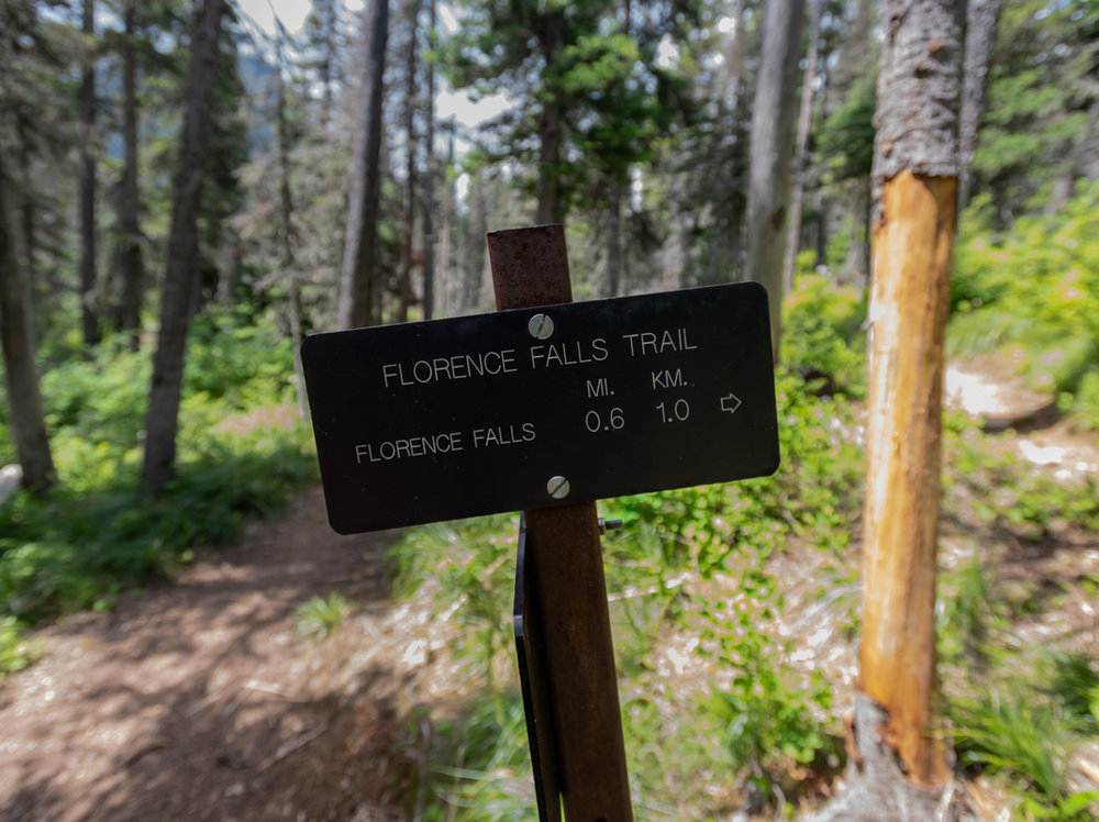 Florence Falls Trail Sign