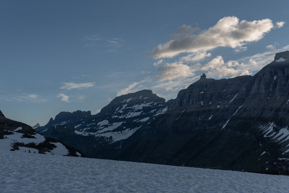 Looking Down Range From Logan Pass