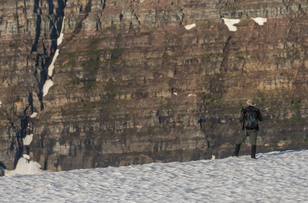 Man Takes In The View At Logan Pass
