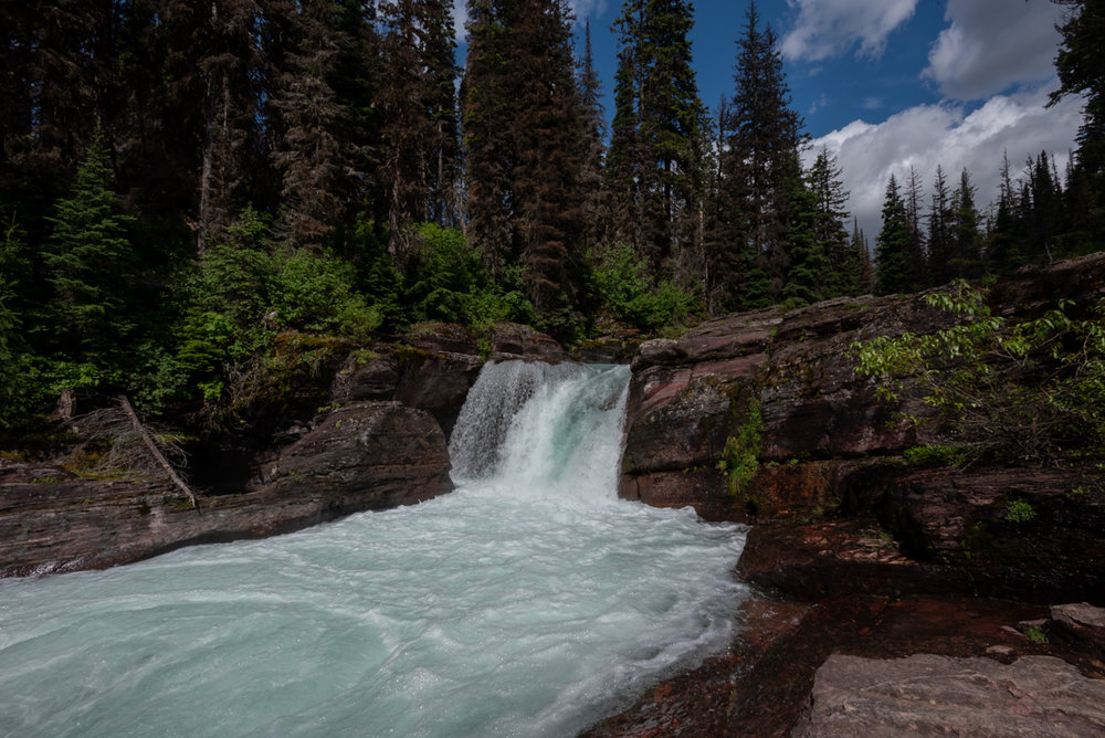 Small Waterfall in Glacier