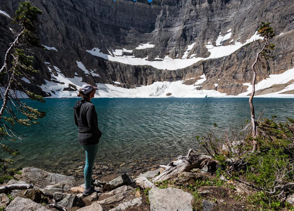 Woman At Iceburg Lake