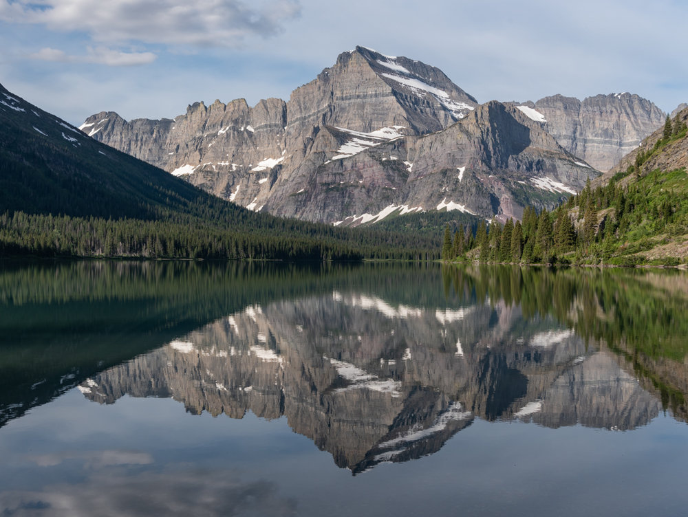 Mountains Reflecting In Lake Josephine