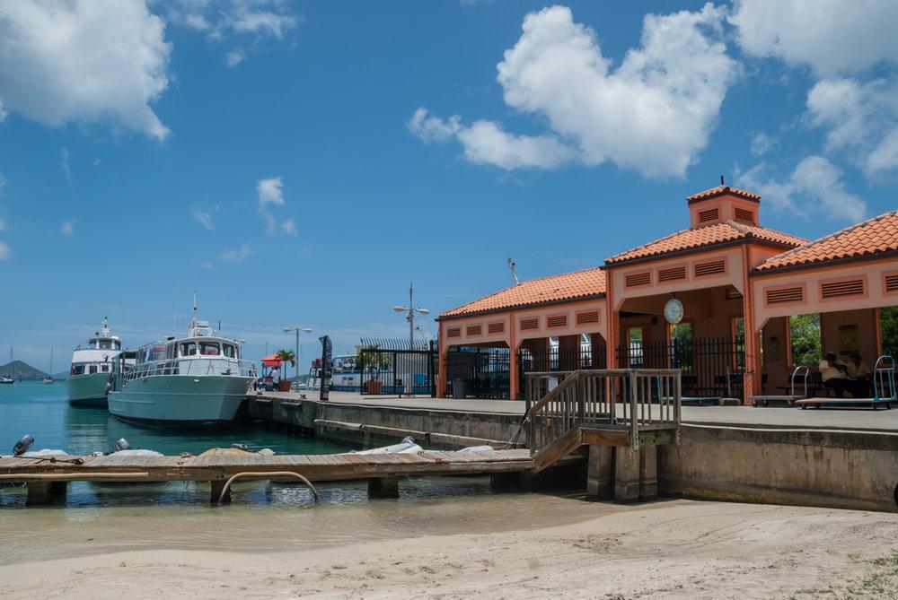 Ferry Dock in Cruz Bay, St. John