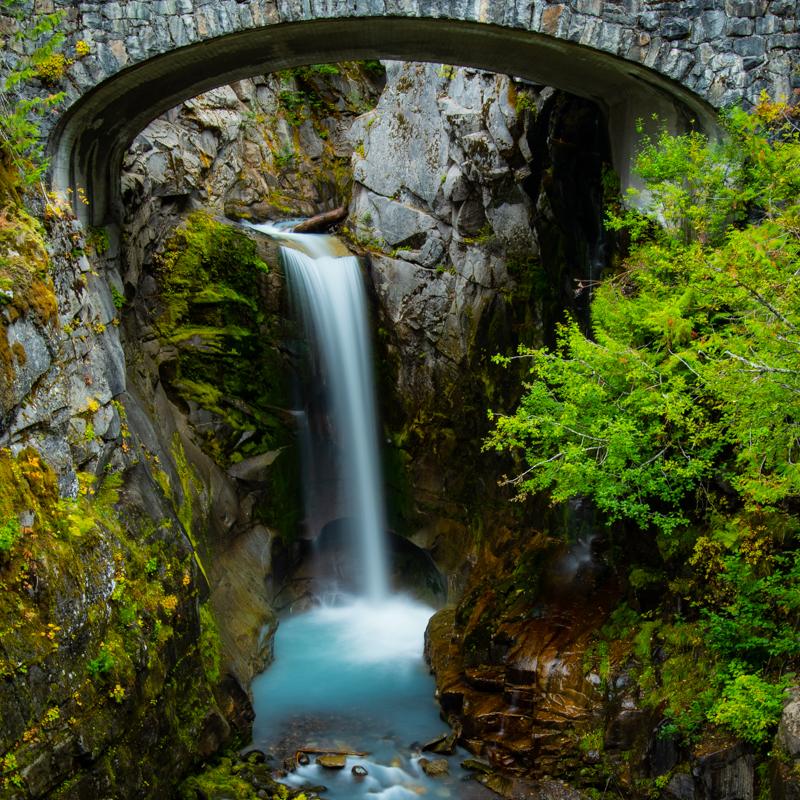 Christine Falls flows under bridge