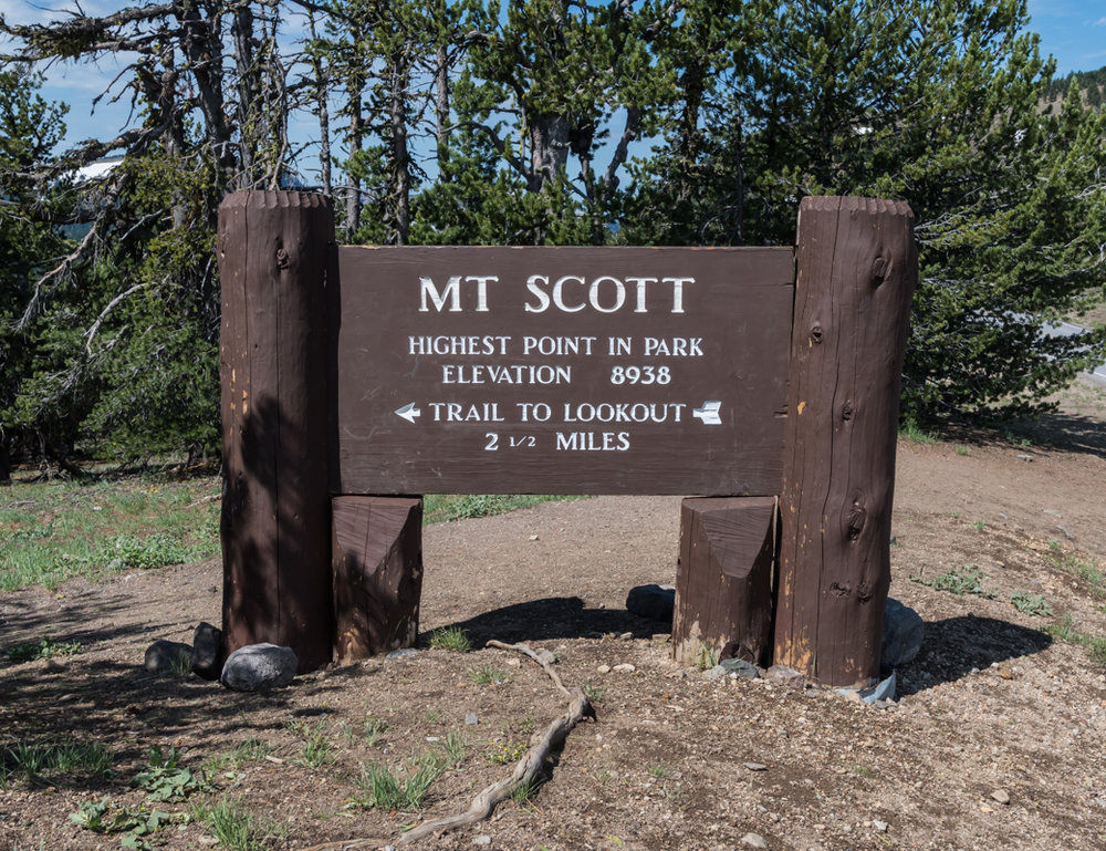 Mt Scott Trail Head Sign
