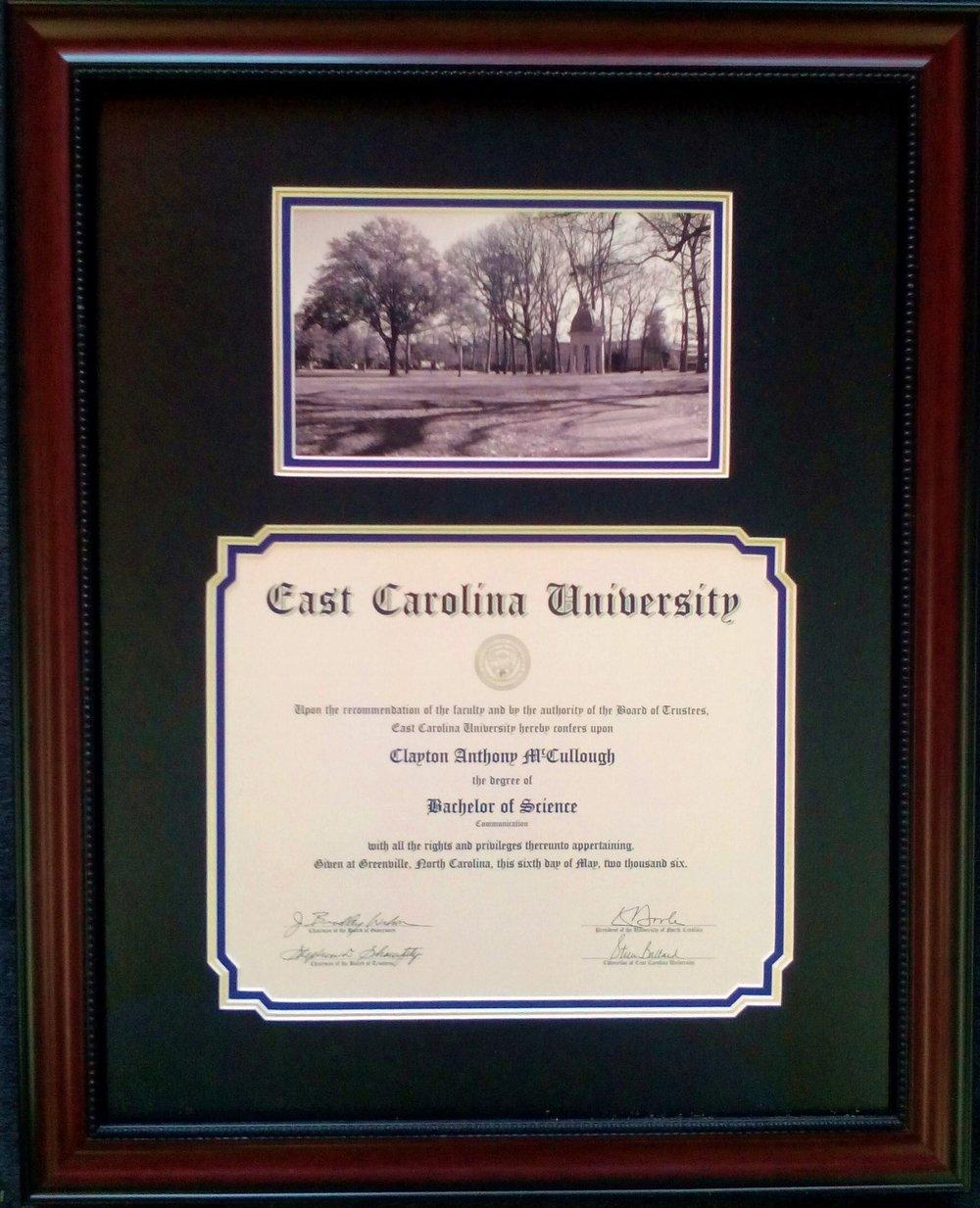 ecudiploma 2jpg - Ecu Diploma Frame