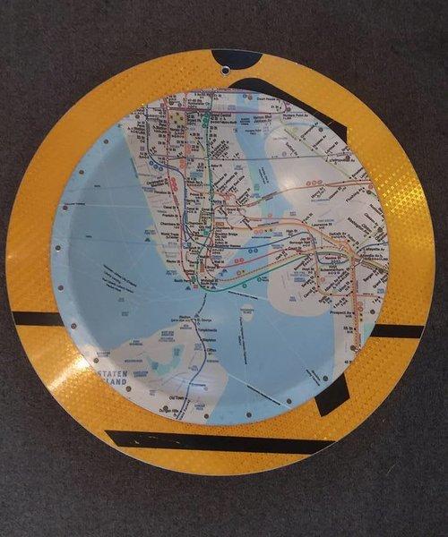 Subway Map Sign.New York Subway Map Sign