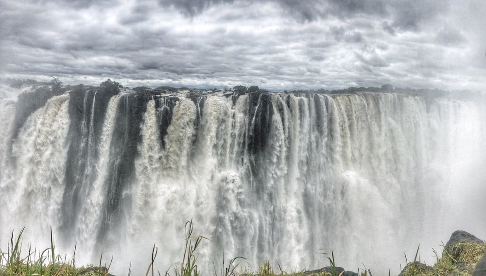 Zambia  side of the Victoria Falls