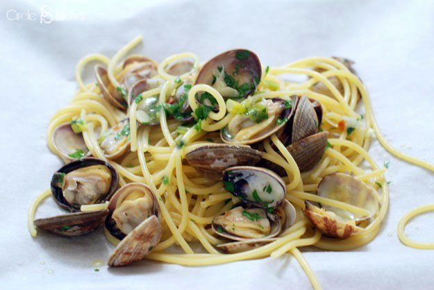 1aea759238b Spaghetti With Clams in Parchment — Circle B Kitchen