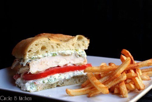 Grilled Chicken Sandwich with Ricotta and Zucchini — Circle B ...