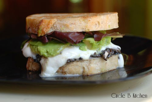 Meatless Monday Grilled Mozzacado Sandwich with Mushroom Goat Cheese ...