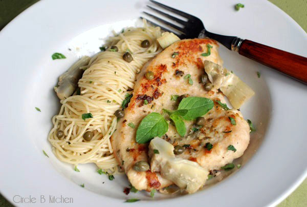 Chicken with Artichokes and Angel Hair Pasta — Circle B Kitchen