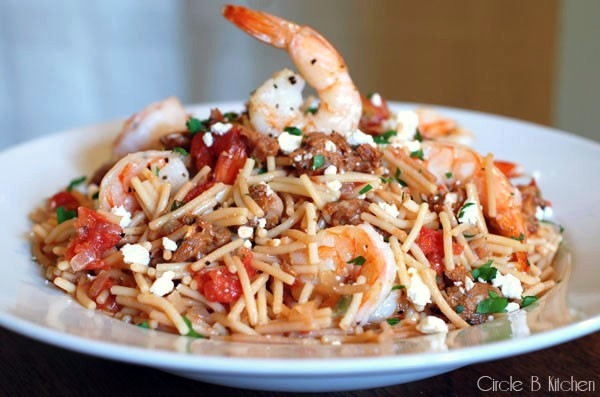 Mexican Fideos with Shrimp and Chorizo — Circle B Kitchen
