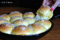 cheddar onion yeast rolls