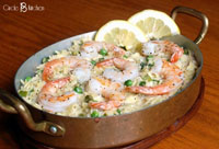 creamy orzo with shrimp and spring peas