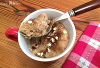 oatmeal cinnamon 1-minute mug cake
