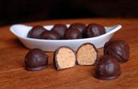 krispie chocolate peanut butter balls