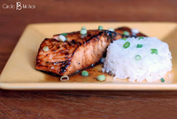bourbon maple salmon