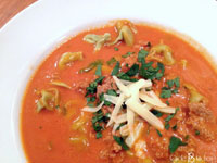 creamy tomato soup with italian sausage and tortellini