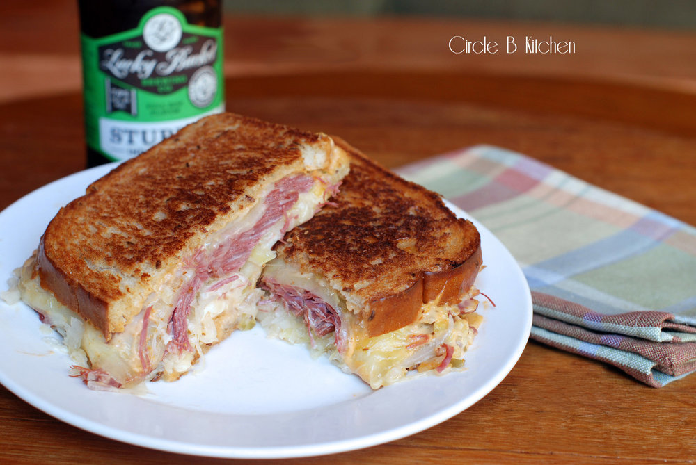 Corned Beef reuben on rye