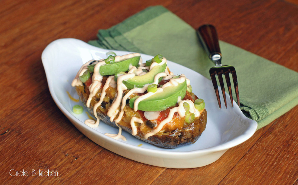 Twice-Baked Potatoes, Mexican             Style