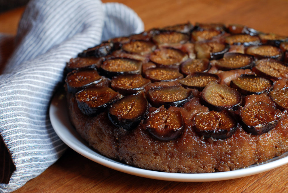 fresh fig upside-down cake