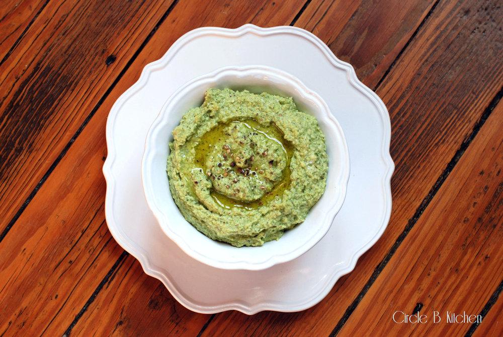 Pistachio feta cheese dip