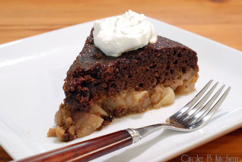 apple ginger pudding cake