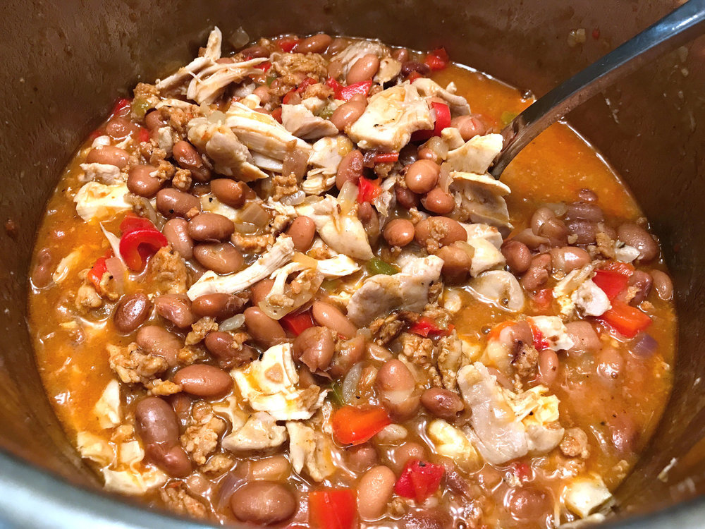 Instant Pot Tex Mex chicken and beans