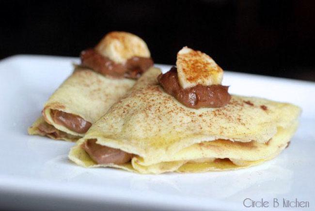 Crepes With Nutella Mascarpone And Bananas Circle B Kitchen