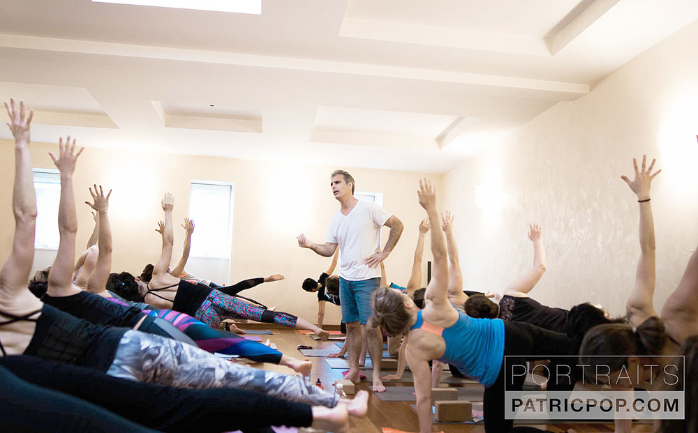 The Poweryoga Master Classes with Bryan Kest are very popular with students of yoga of all levels.