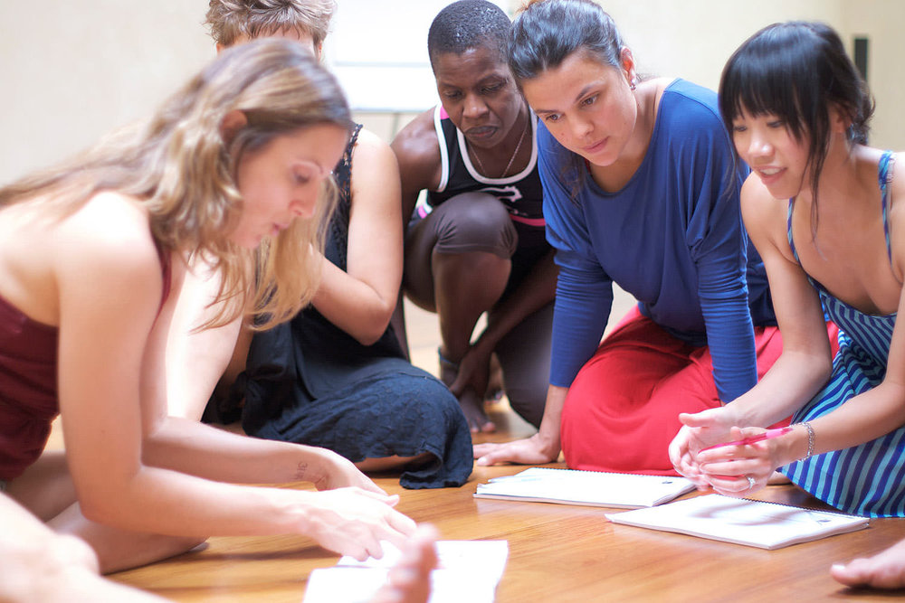 A clearly structured content and teamwork in small groups helps the learning process during the yoga teacher training.