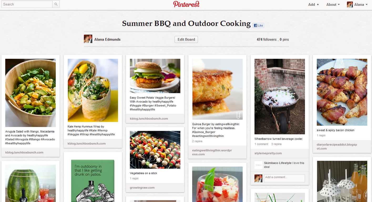 Summer BBQ and Outdoor Cooking Pinterest Board