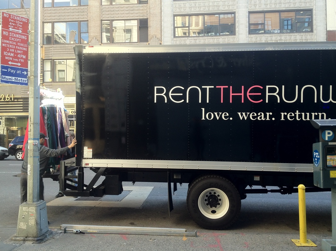 Rent the Runway NYC Sample Sale Truck Unloading (via 260SS)