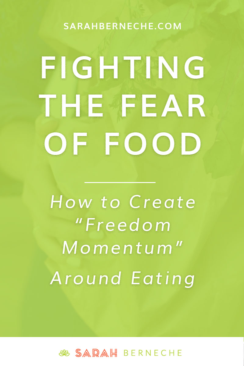 "Intuitive eating | Body positive | Health at every size | eating disorder recovery | joy of cooking | emotional eating | overeating. How to fight the fear of food, develop ""freedom momentum"" around eating, and make peace with ALL foods."
