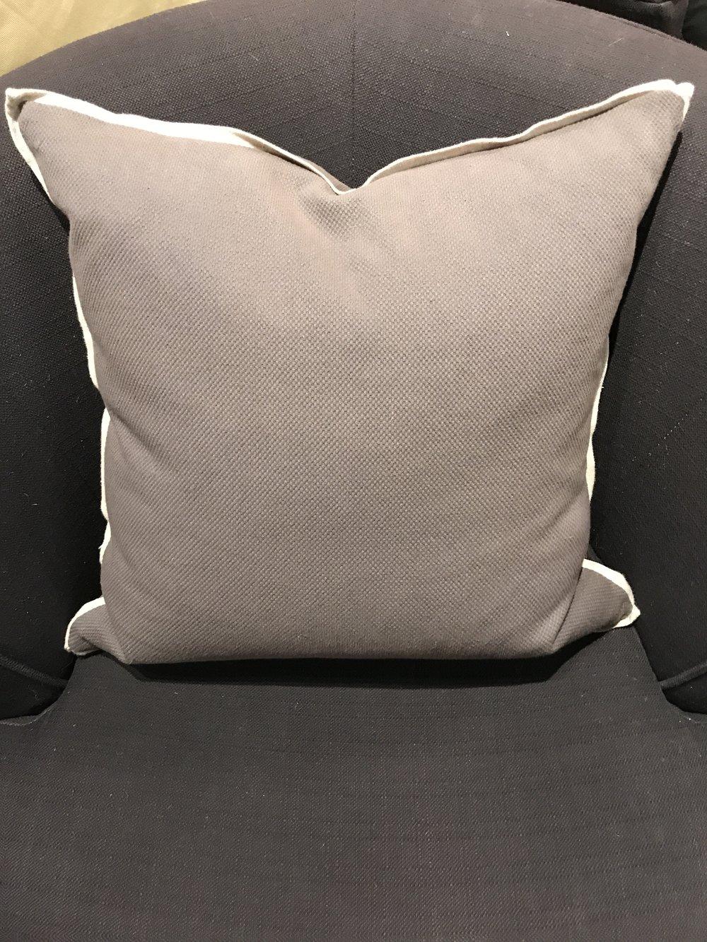 Textured Charcoal Pillow   11085
