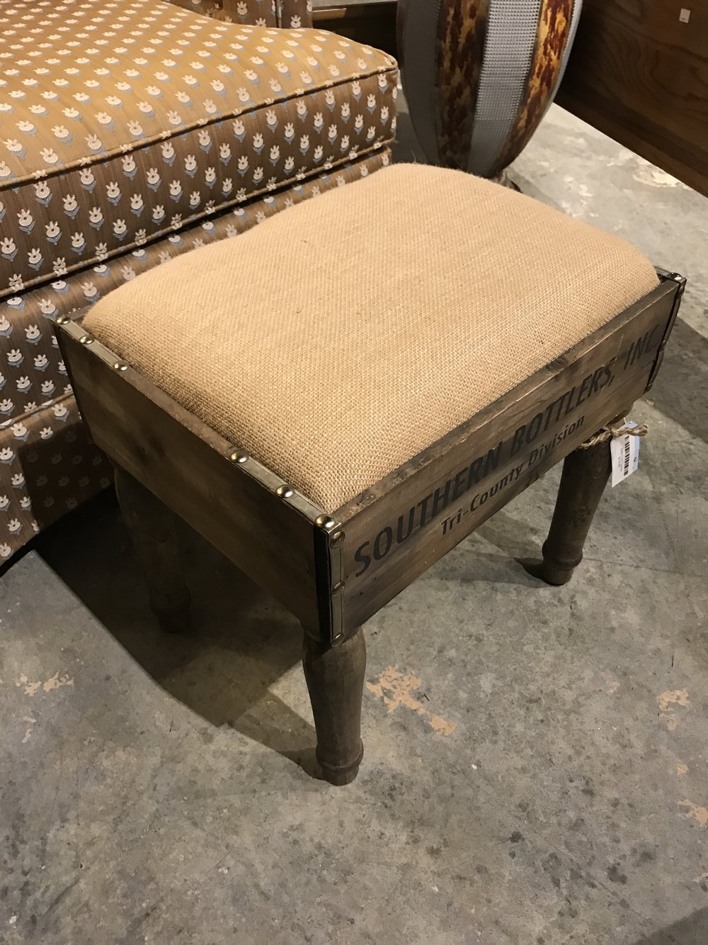 Bottle Crate Footstool      10419