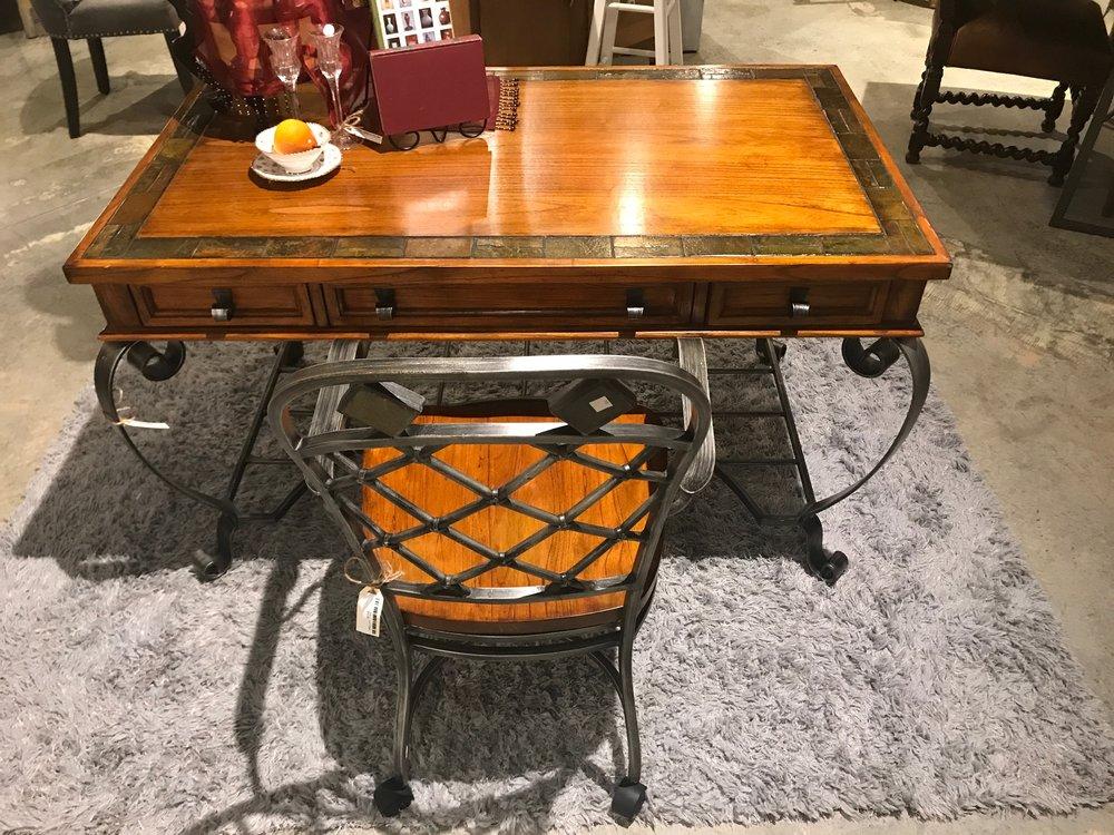 SOLD!!! Iron Leg Desk   C0985  -   20607