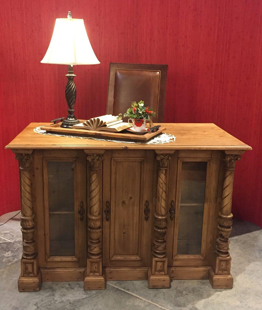 SOLD!!!    Carved Front Desk   C0992   -    20612