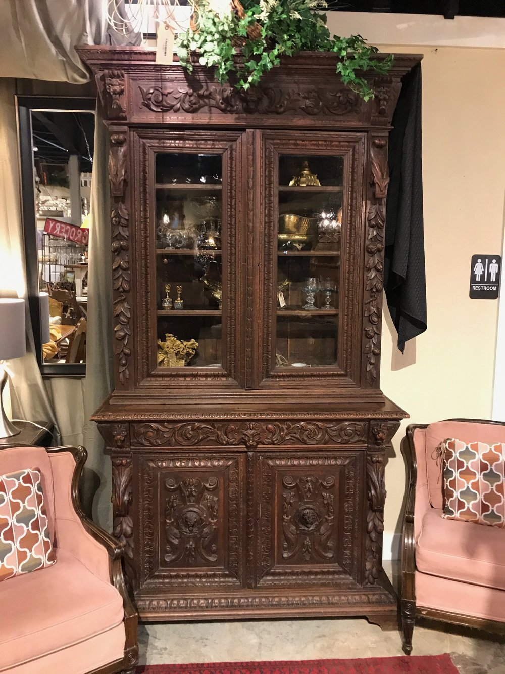 European Carved Cabinet $2395.00 C0992 - 20665