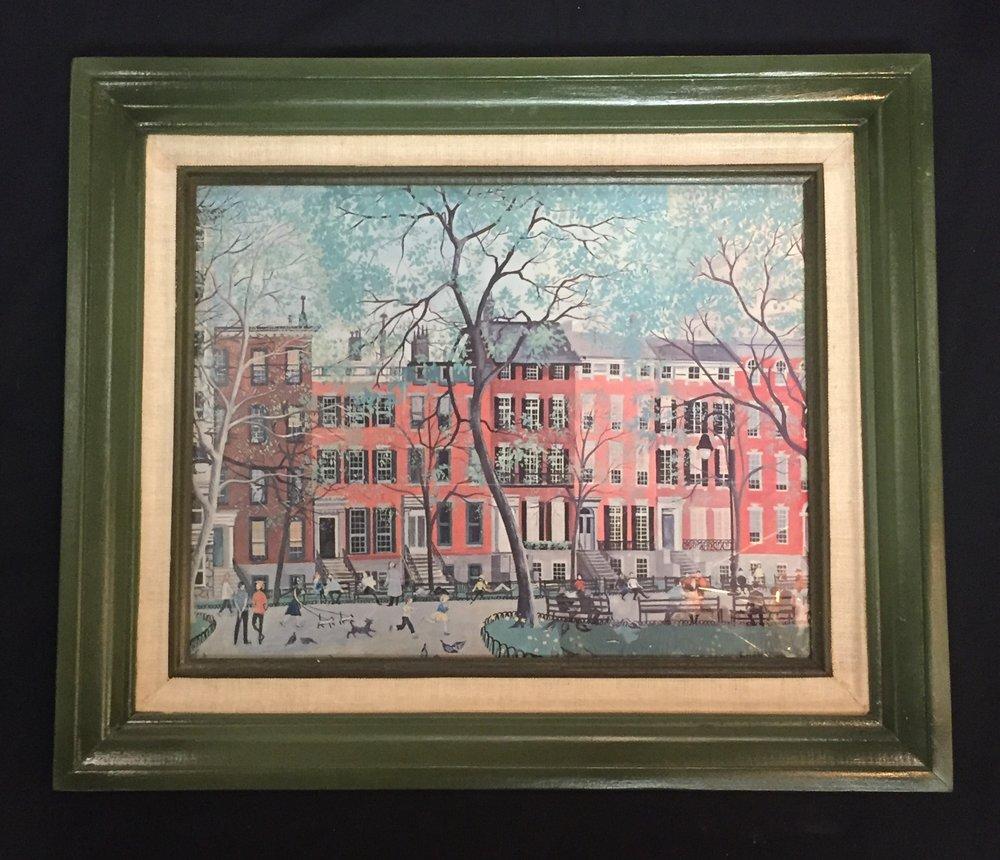 Green Framed Building Prints  C0891  -  16860