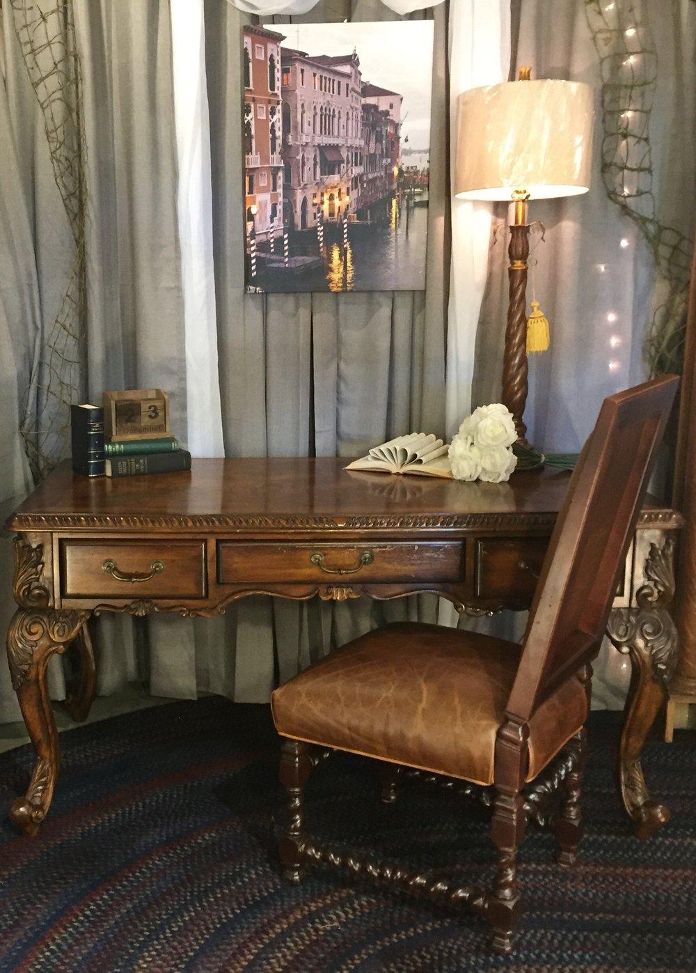 SOLD!!!    Queen Anne Leg Desk    C0980  -   20454